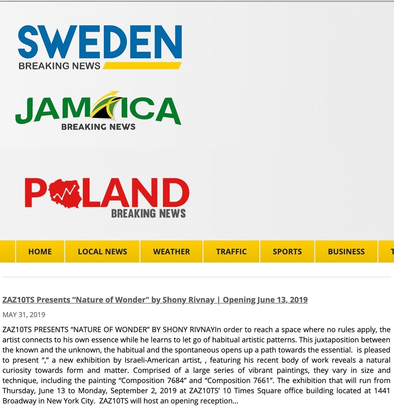 Sweden Breaking News   | May 31, 2019      Jamaica Breaking News     | May 31, 2019     Poland Breaking News     | May 31, 2019 READ  PDF