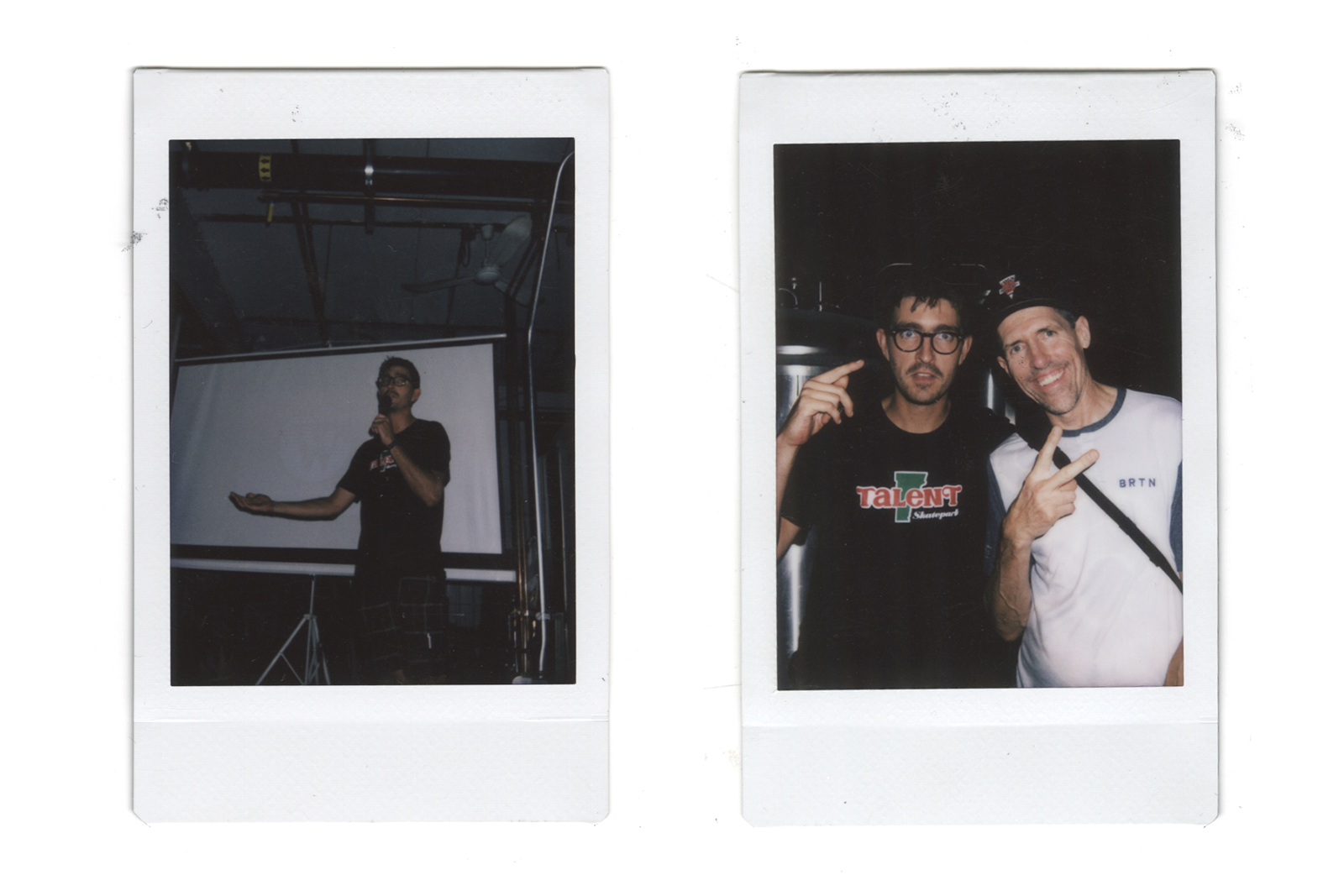 "Laffy Taffy's ""Chief Laugh Officer"", Richard Bowen, and phenomenal photog, Dean Blotto Grey. Photos: @_lucilletoo_"