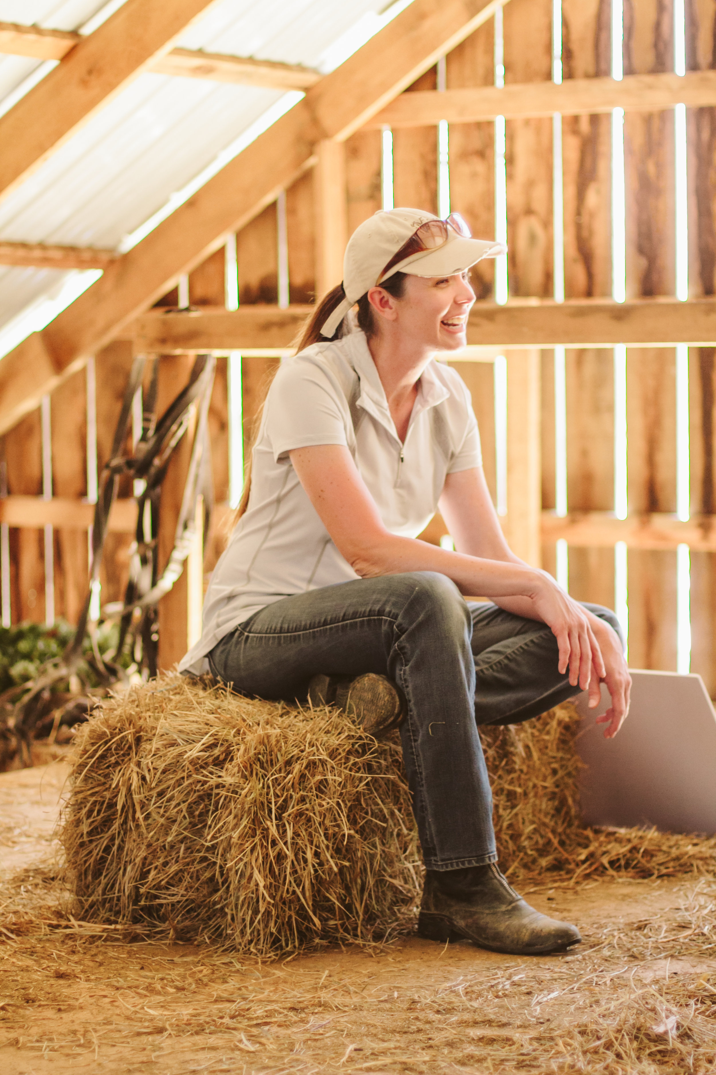 Because sometimes hay bales are way more comfortable than office chairs... -