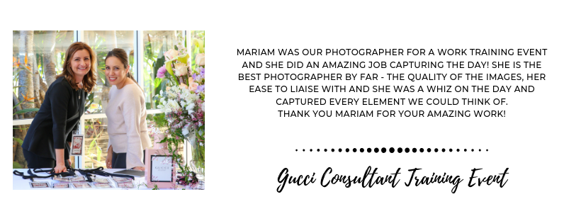 Photographed With Love Events Review - Gucci Consulting