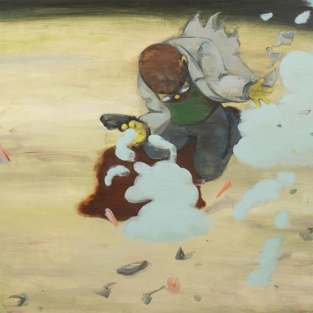 Nicholas Ives 'The Scientist', 2018 .  1540 x 1060 x 50mm. Oil on Linen.