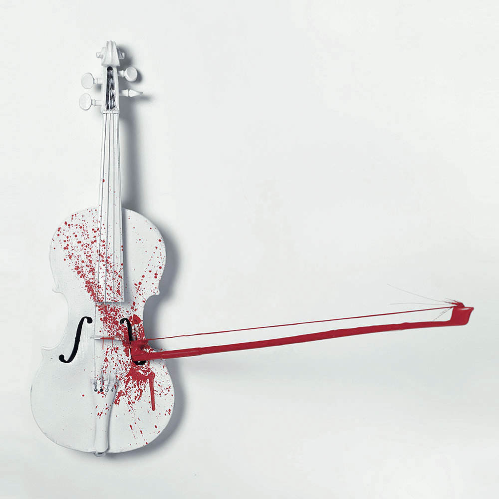 "'Violent Violins' - Print A, 2018. 24"" x 24"".  Archival Museum Print. Pigment based inks on Hahnemühle Photo Rag. Edition of 50 prints."