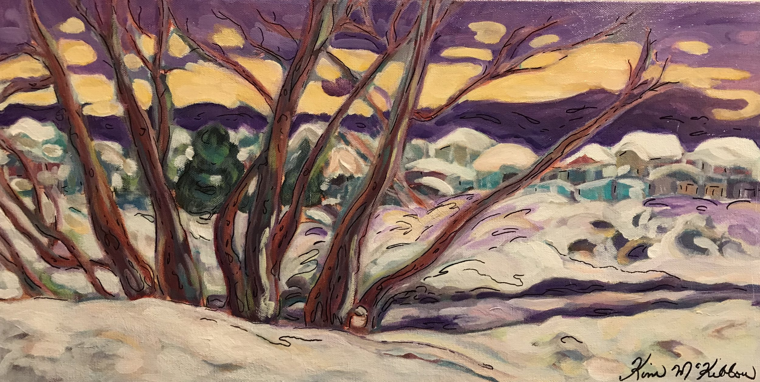 Junction Creek  2 x 1, acrylic on canvas, unframed