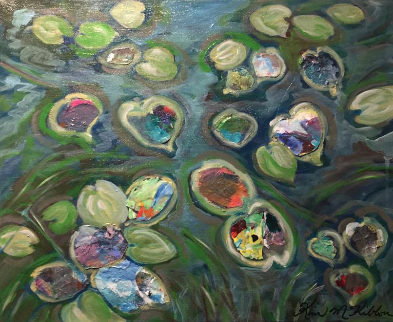 """Barn at Sunset  15.7"""" x 20"""", acrylic on canvas"""