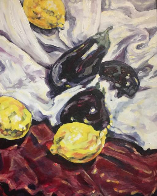 "Unstill Life  20"" x 16"", Acrylic on canvas, unframed"