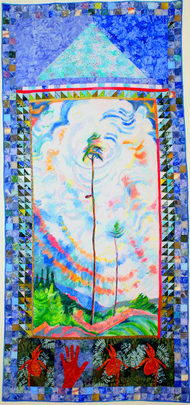 Emily Carr Visited Me, painted and embroidered quilt, Judy Martin (1).jpg