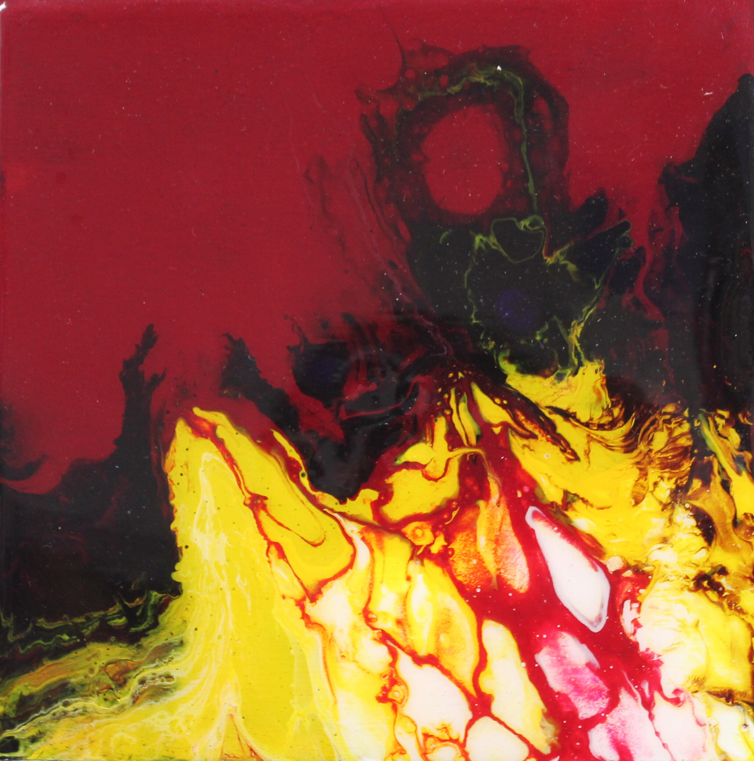 """6""""x6"""", untitled, resin on wood, unframed"""