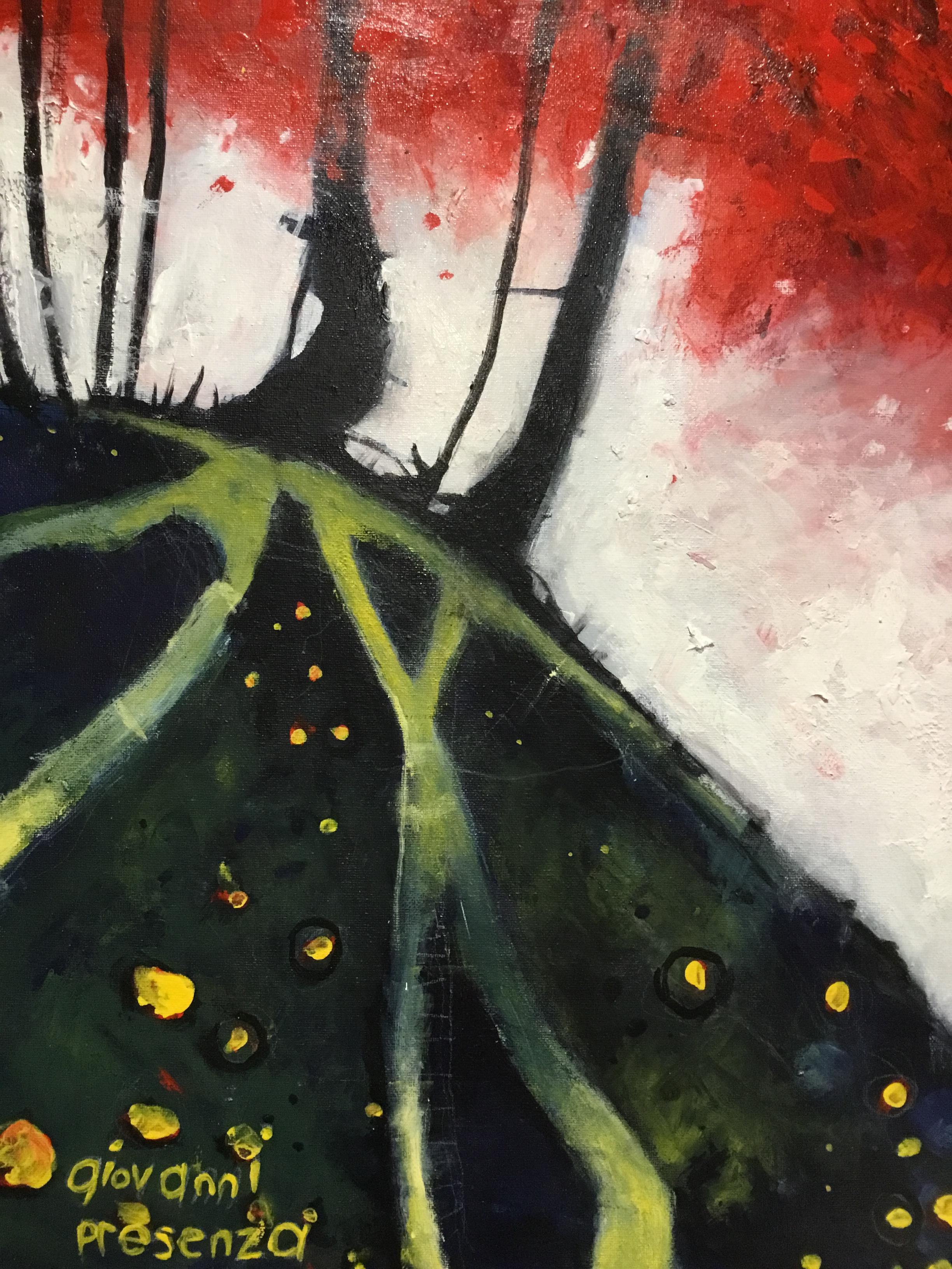"""Trees, Acrylic on Canvas, 16x20"""", unframed"""