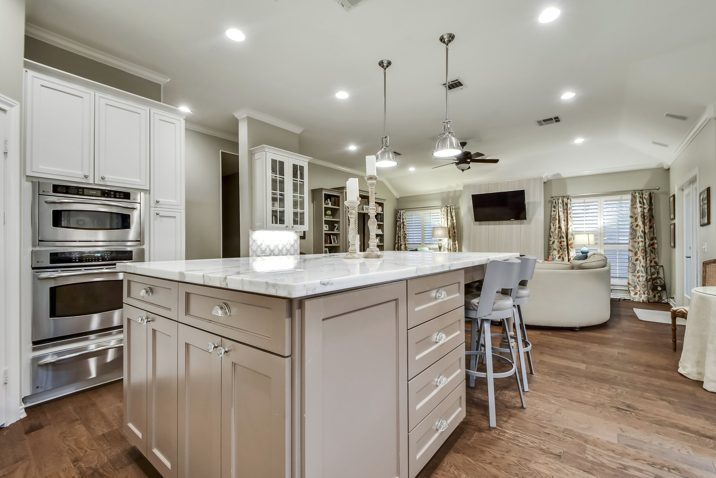 Kitchen Remodel with Marble Countertops Austin Texas