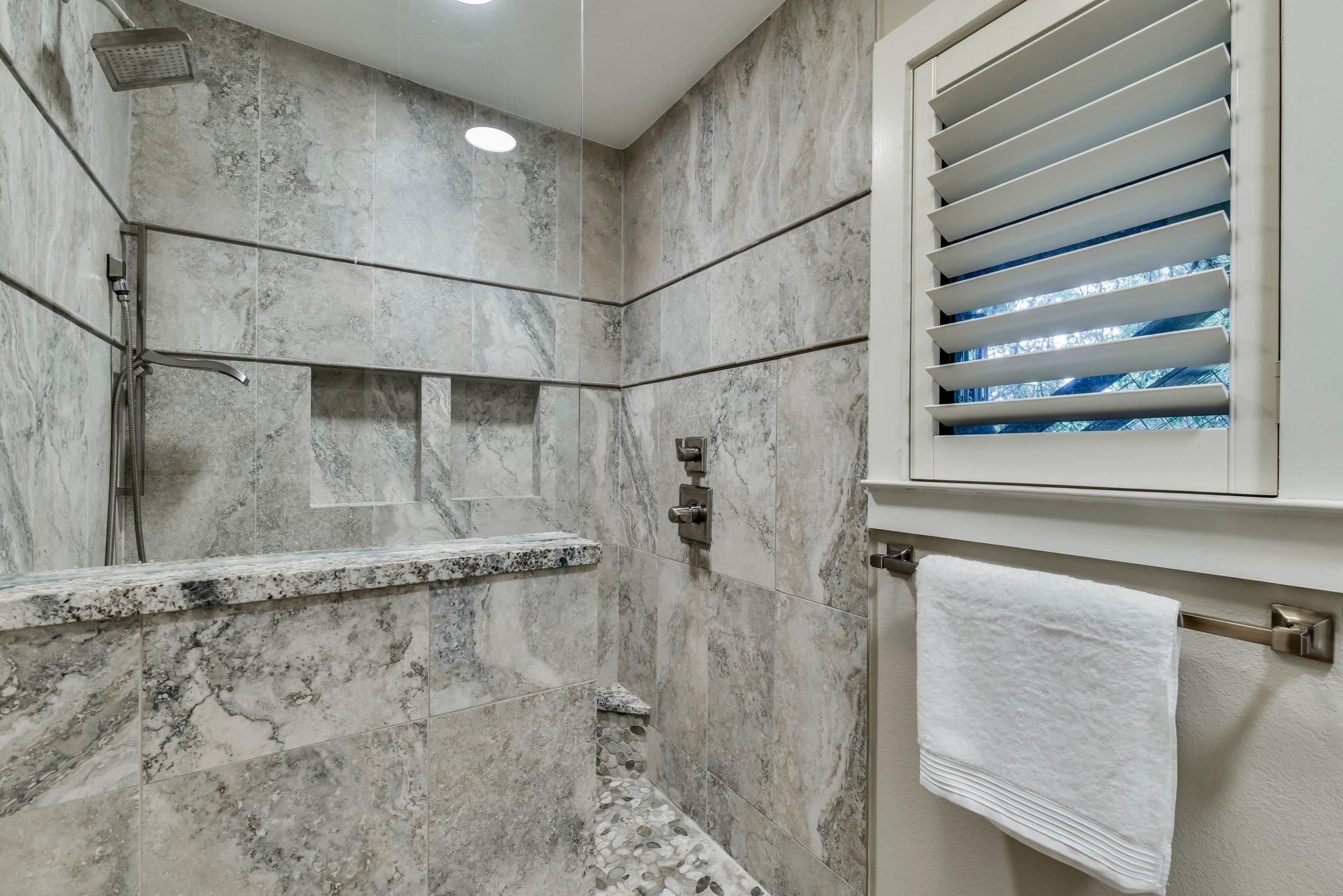 Master Bath Design with Porcelain Tile