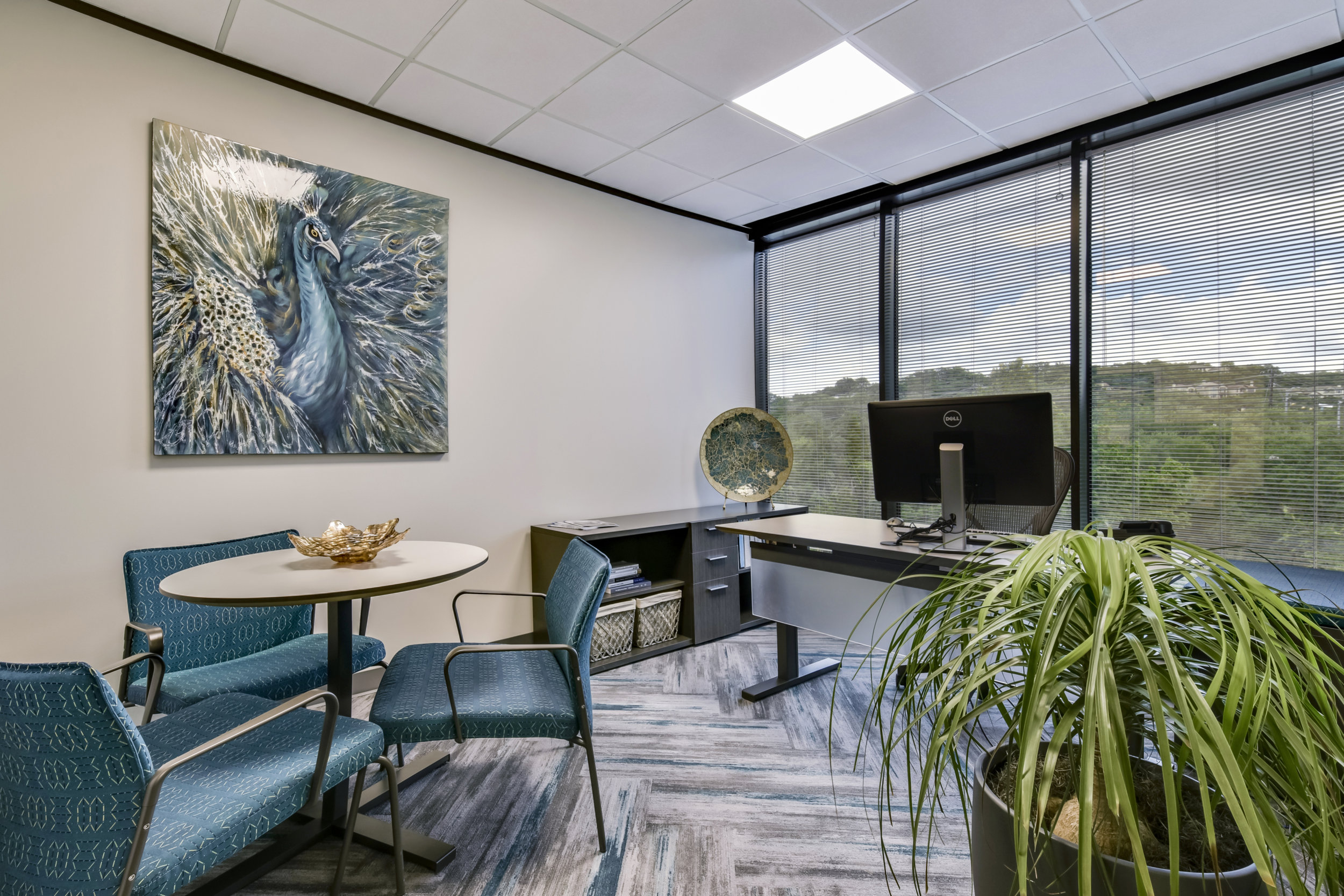 Modern Office Interior Design and Wall Art