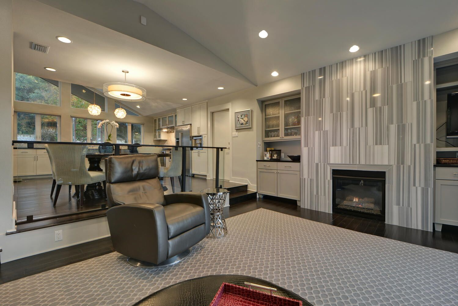 Open Concept Kitchen, Dining Room and Living Room Design