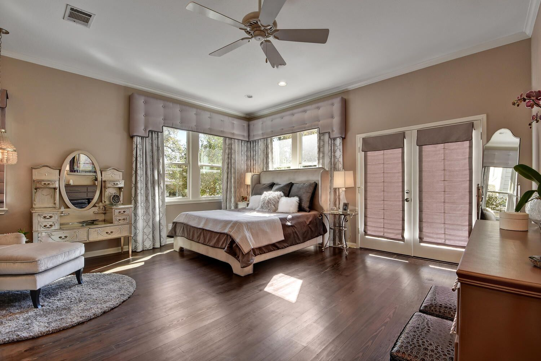 Elegant bedroom with makeup vanity