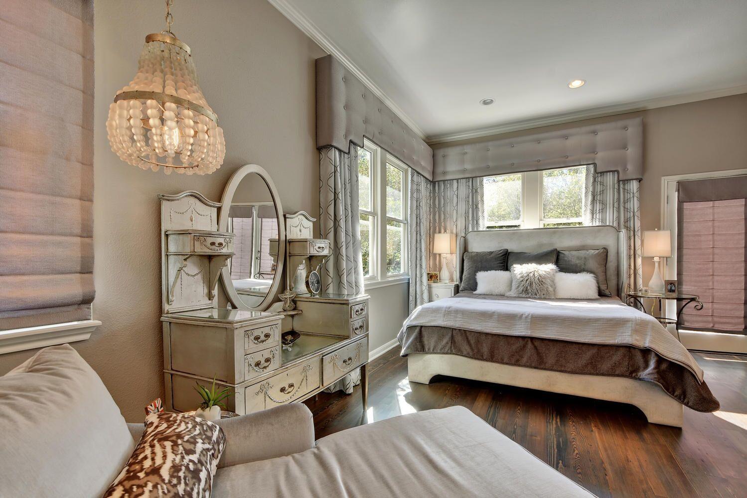 Interior designer bedroom chandelier