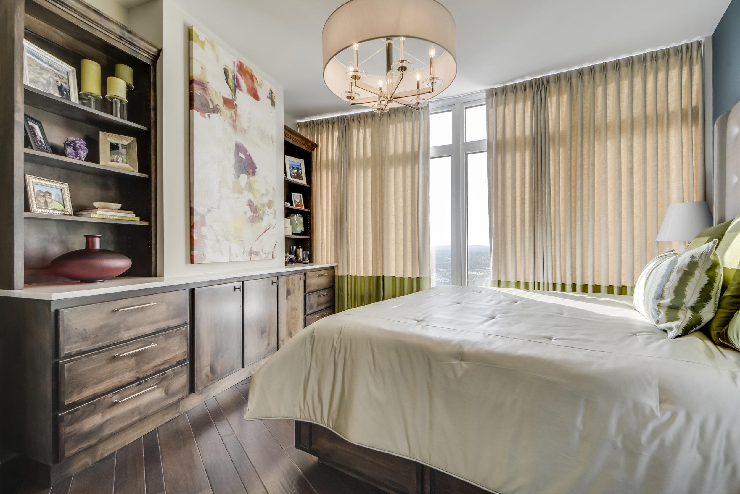 Elegant Bedroom with Chandelier