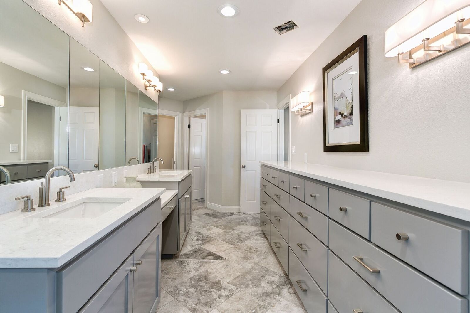 Gray and White Bathroom Design