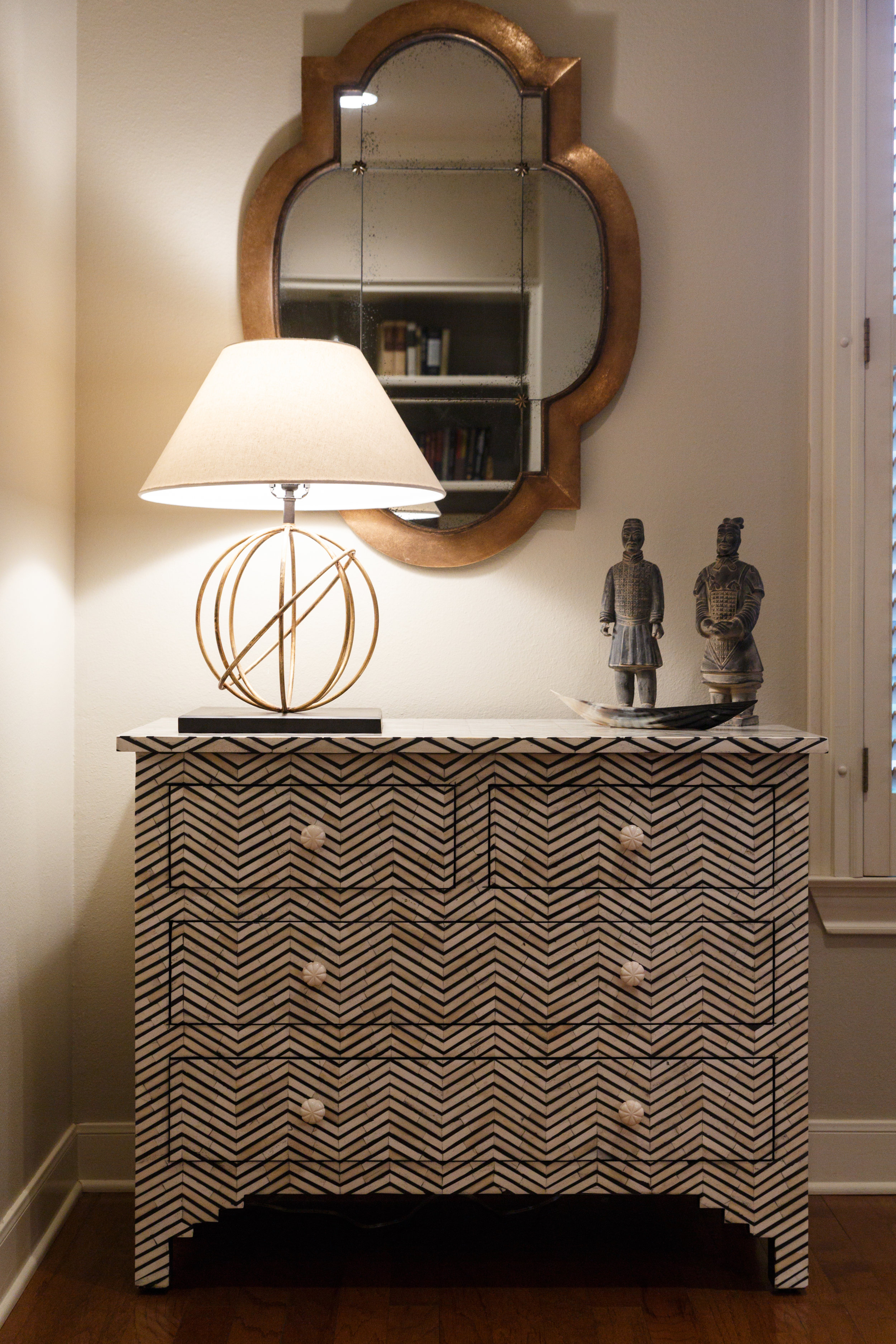 Designer Console Table and Lighting