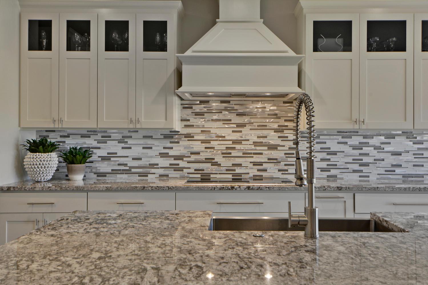 Granite in transitional kitchen remodel