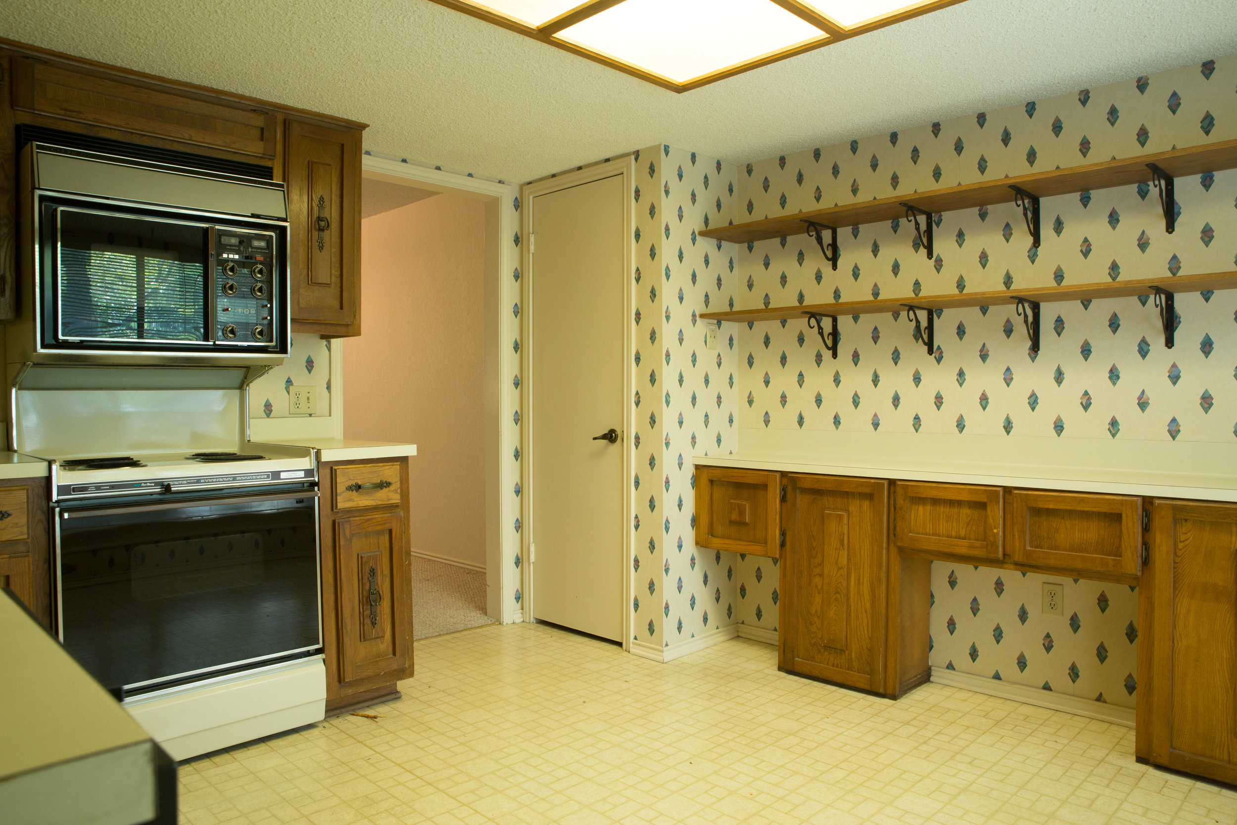 Before and after condominium kitchen remodel