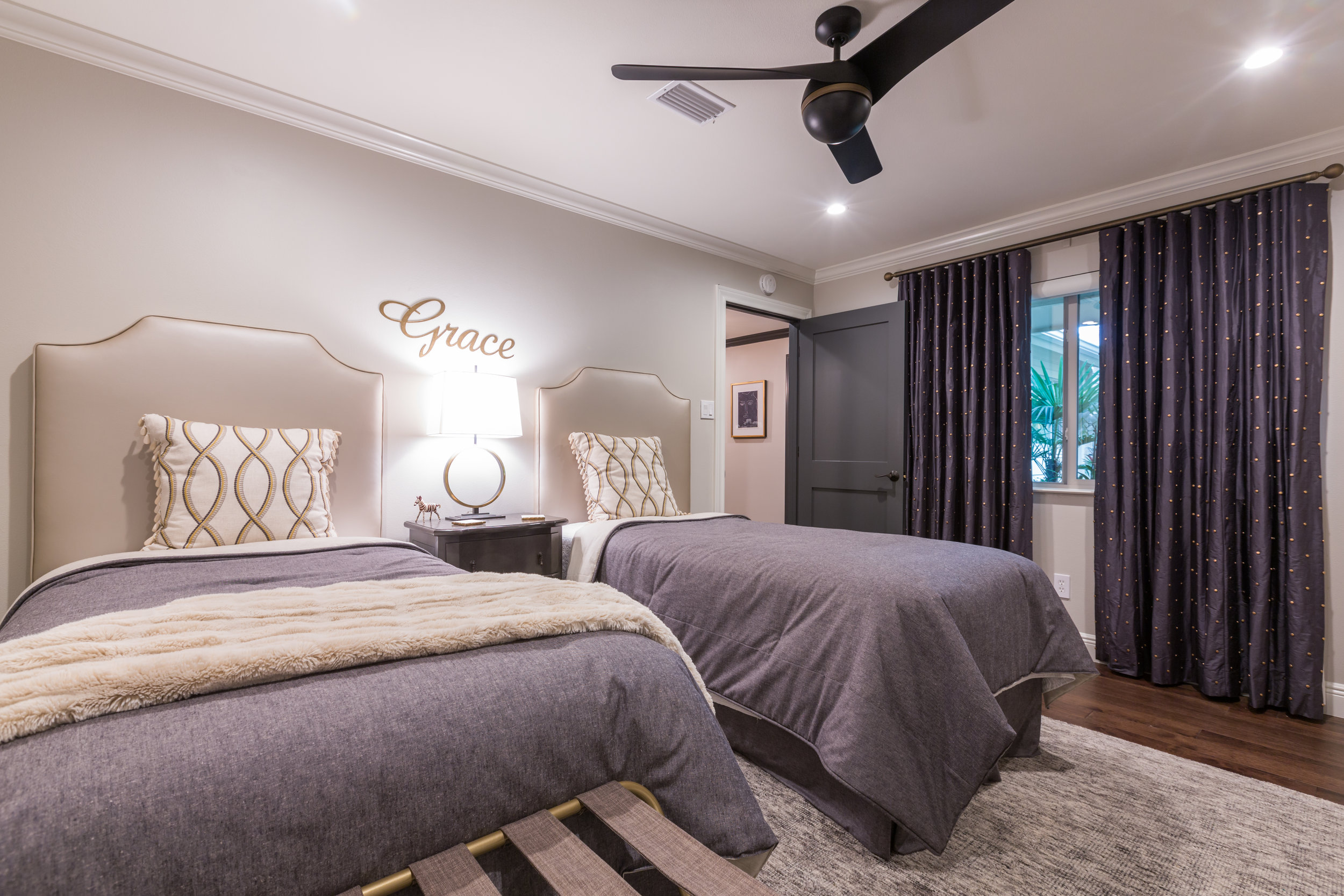 Completely remodeled guest bedroom in austin condo