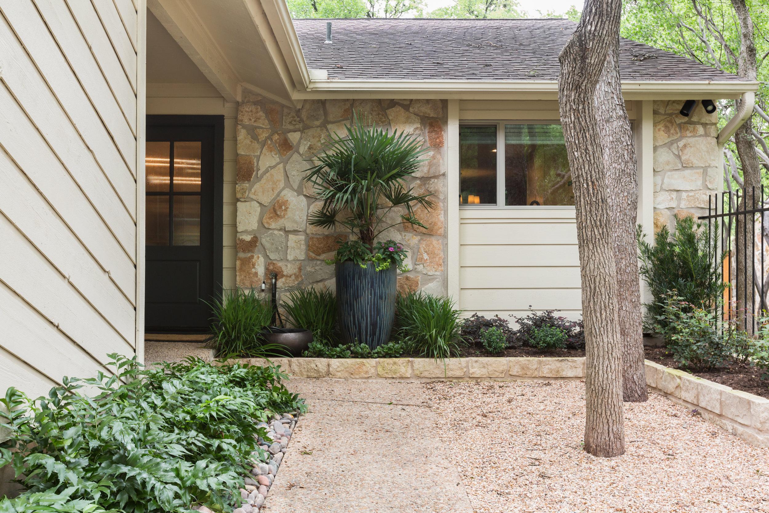 Fresh landscaping austin condo renovation