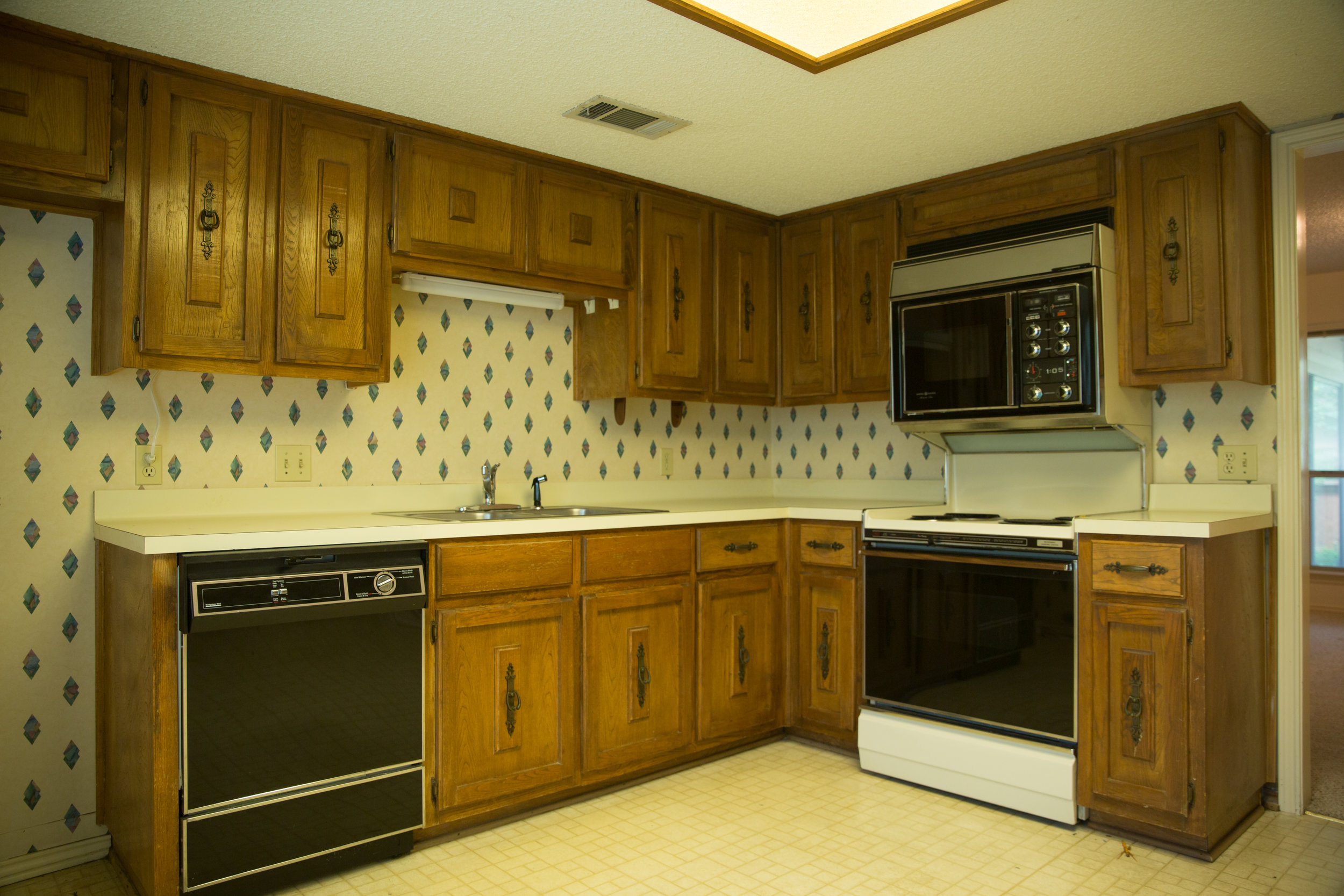 Dated Kitchen Remodel Before