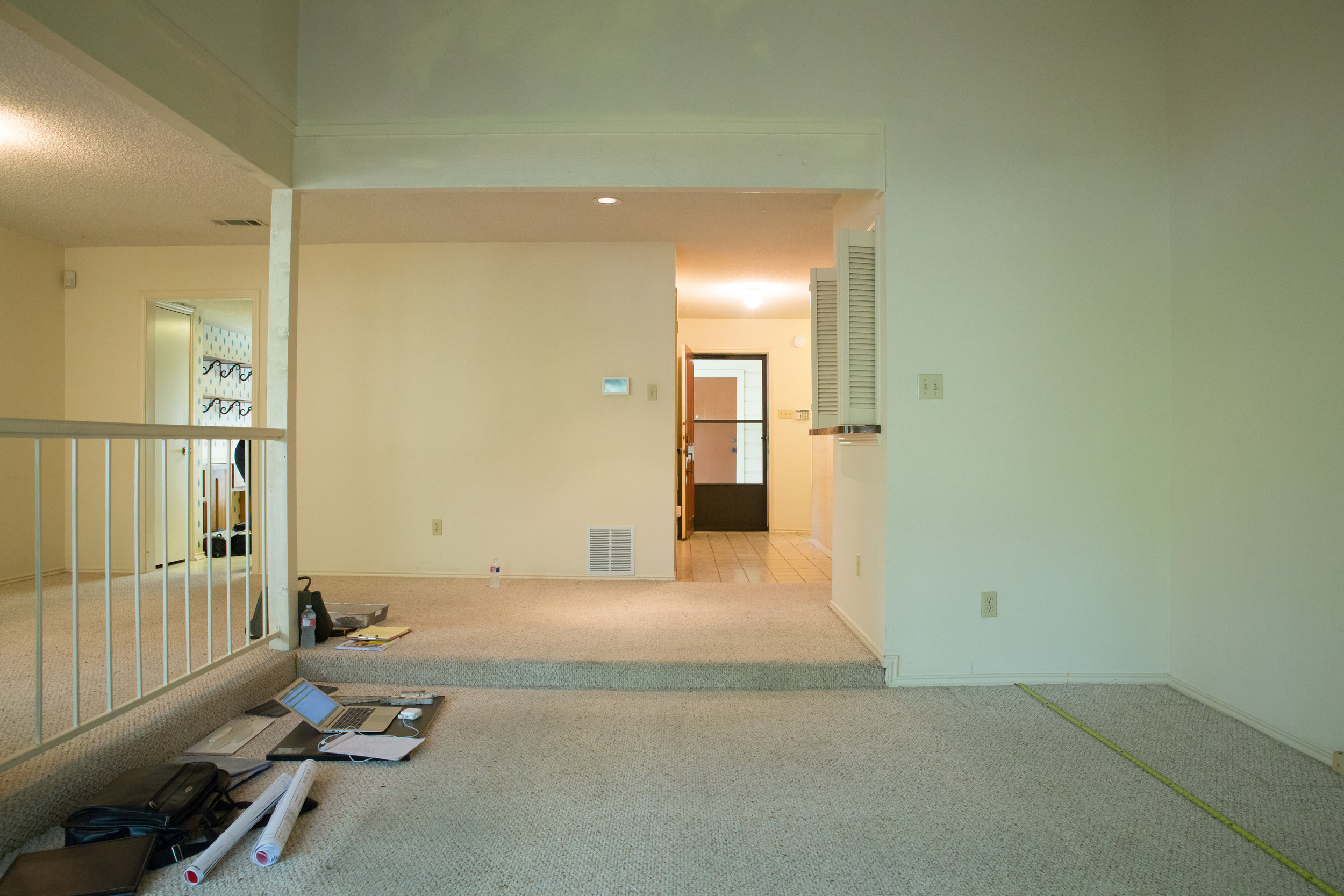 Before Photo of Remodeled Living Room Austin
