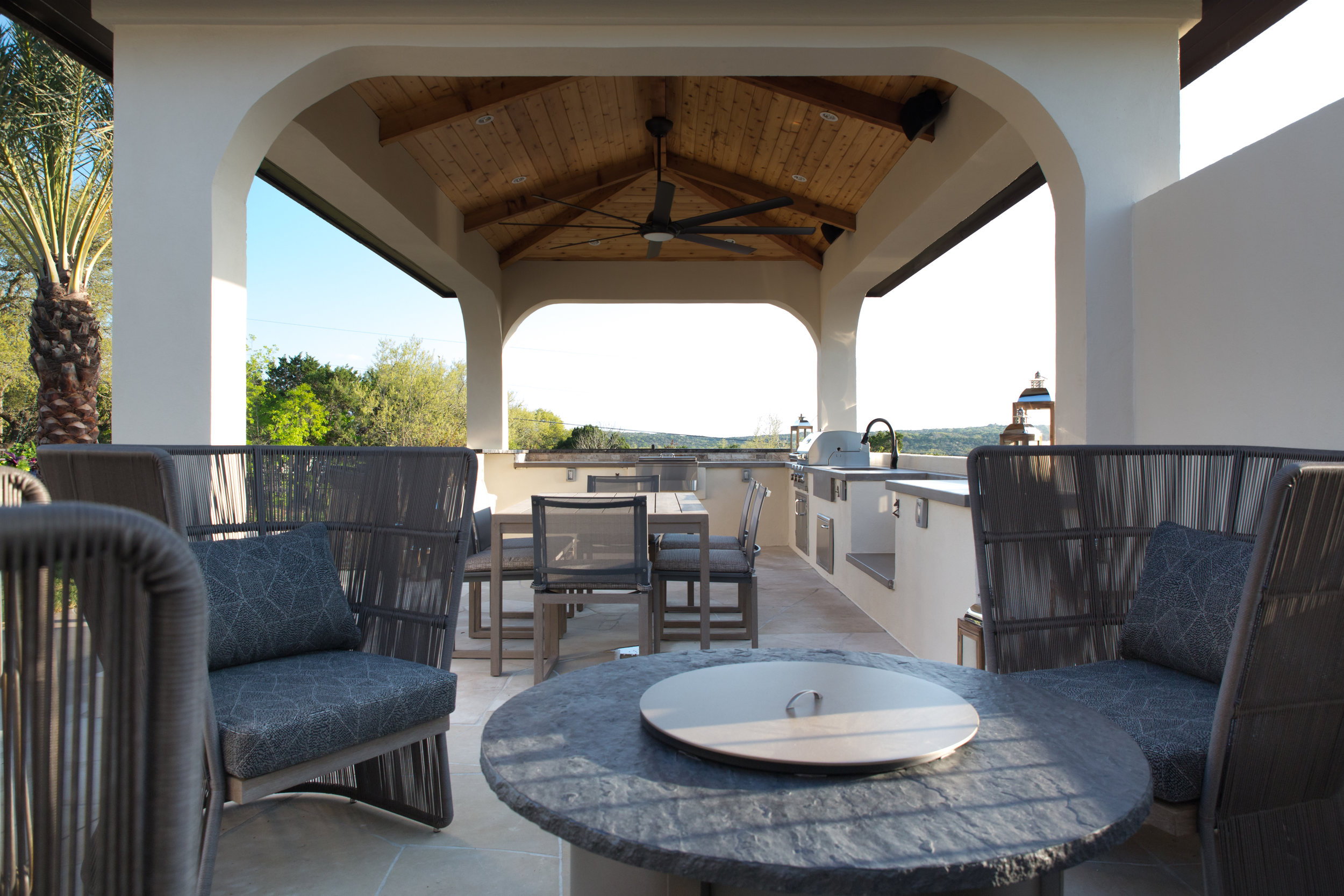 Outdoor Seating Area with Cabana