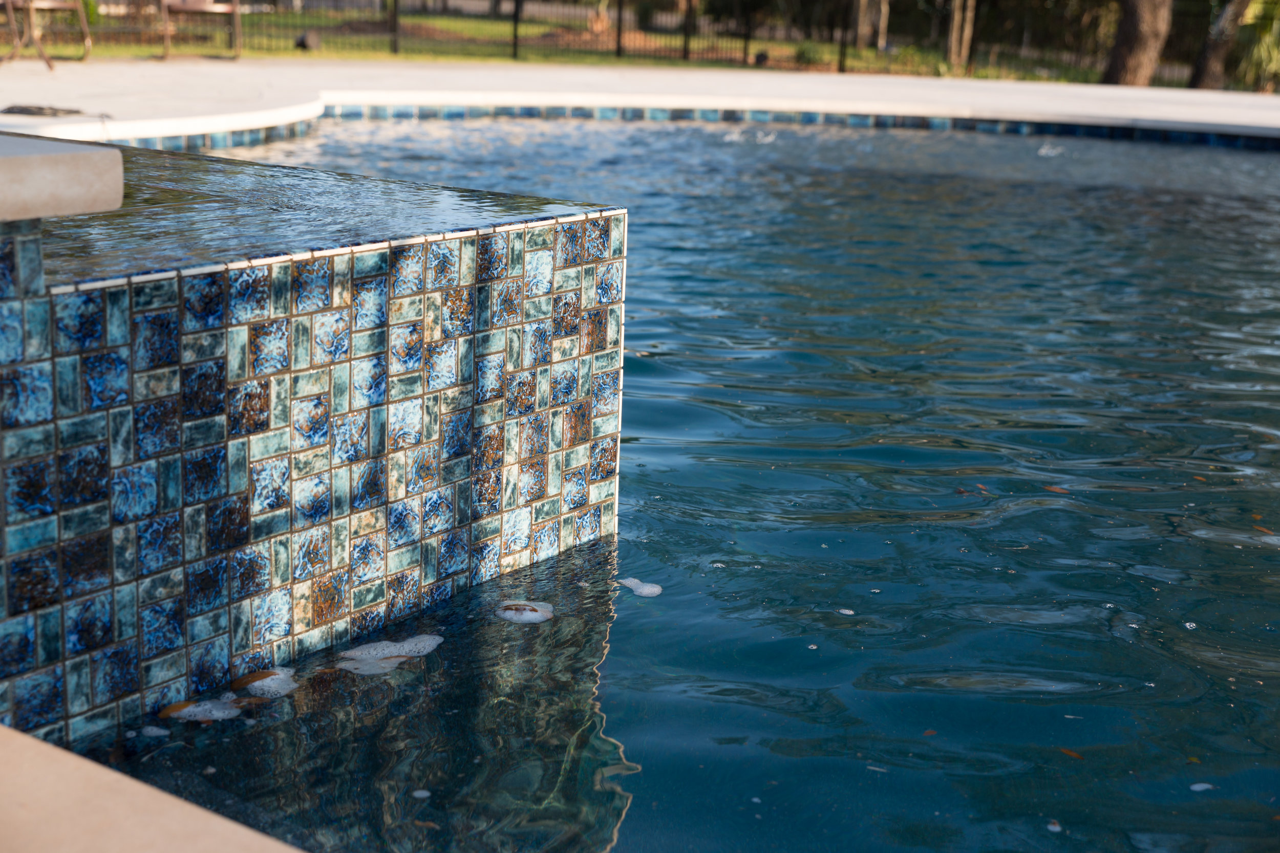 Pool with Blue Mosaic Tile