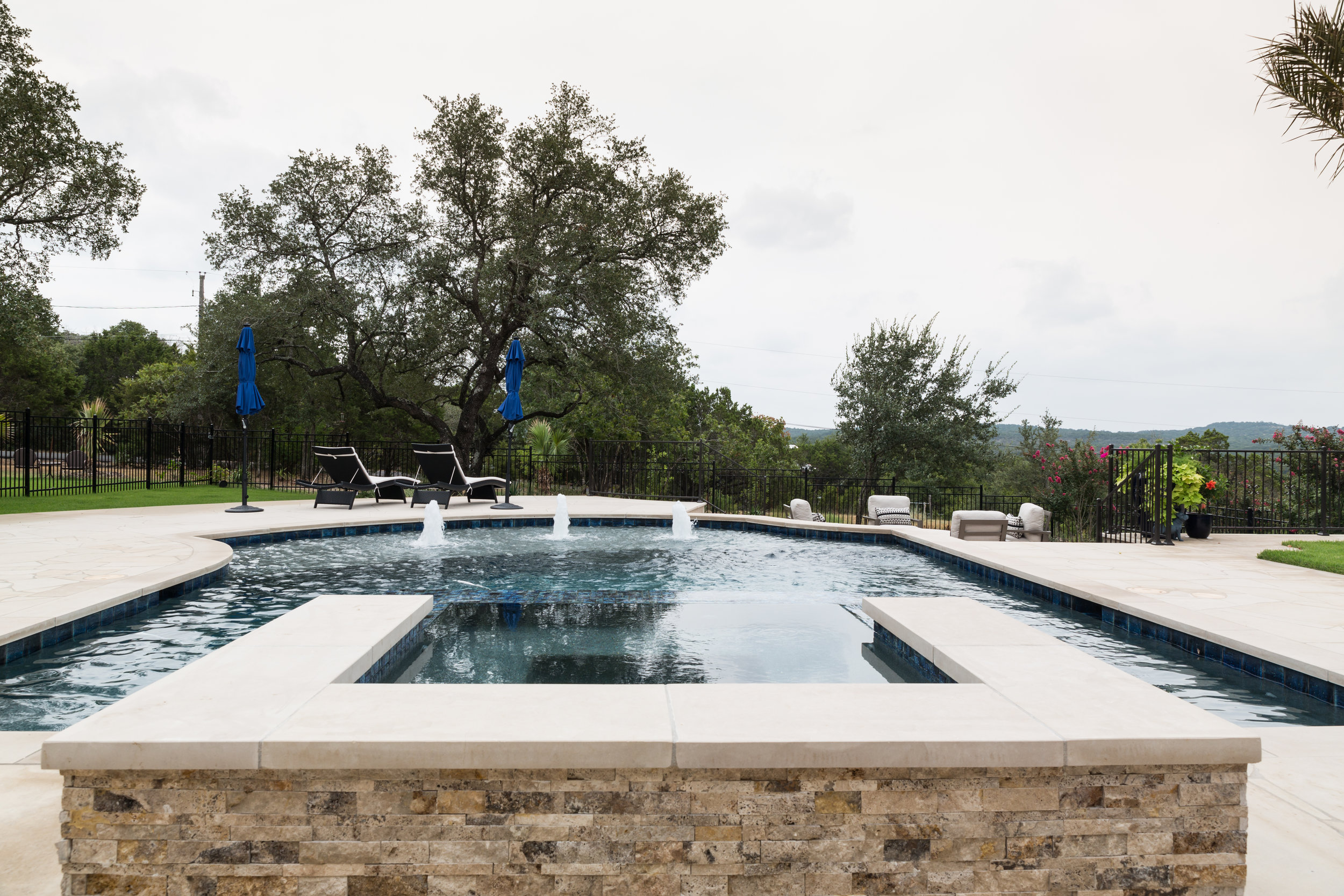 Pool with Fountains