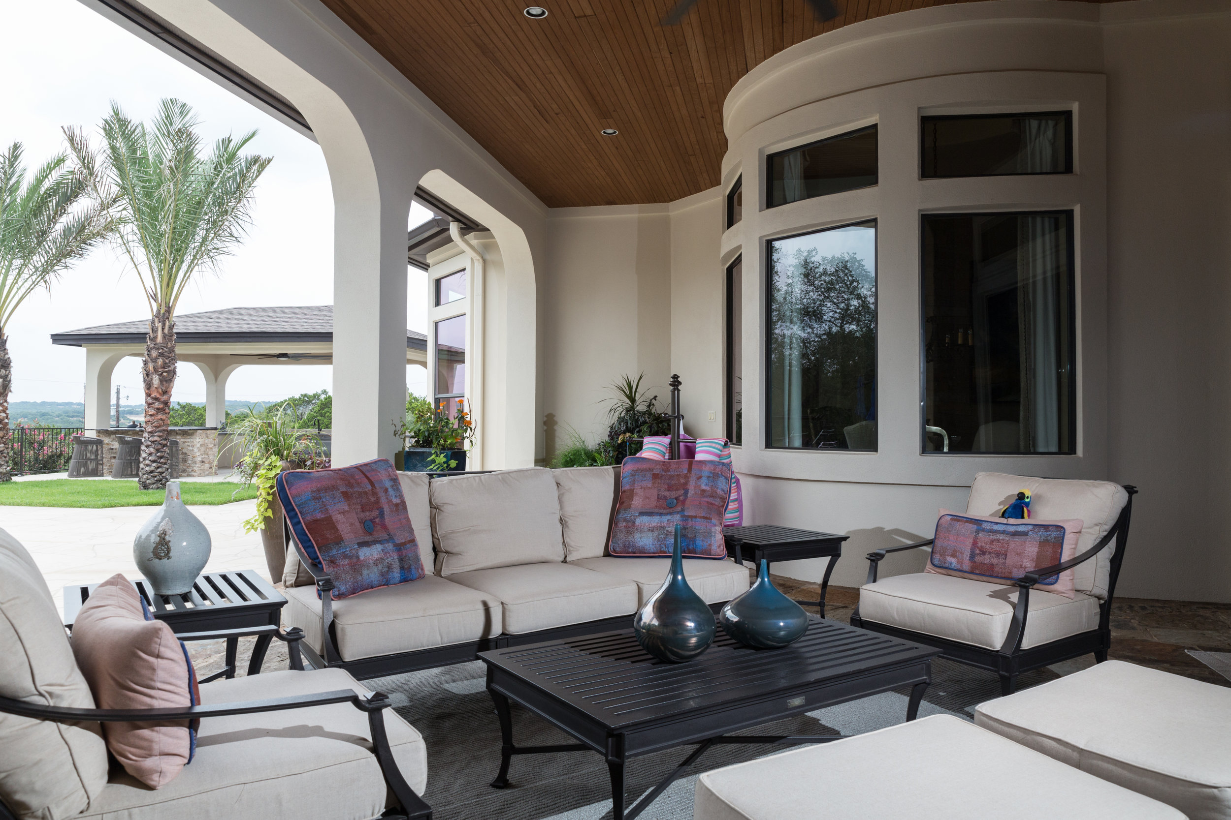 Covered Patio Seating Area
