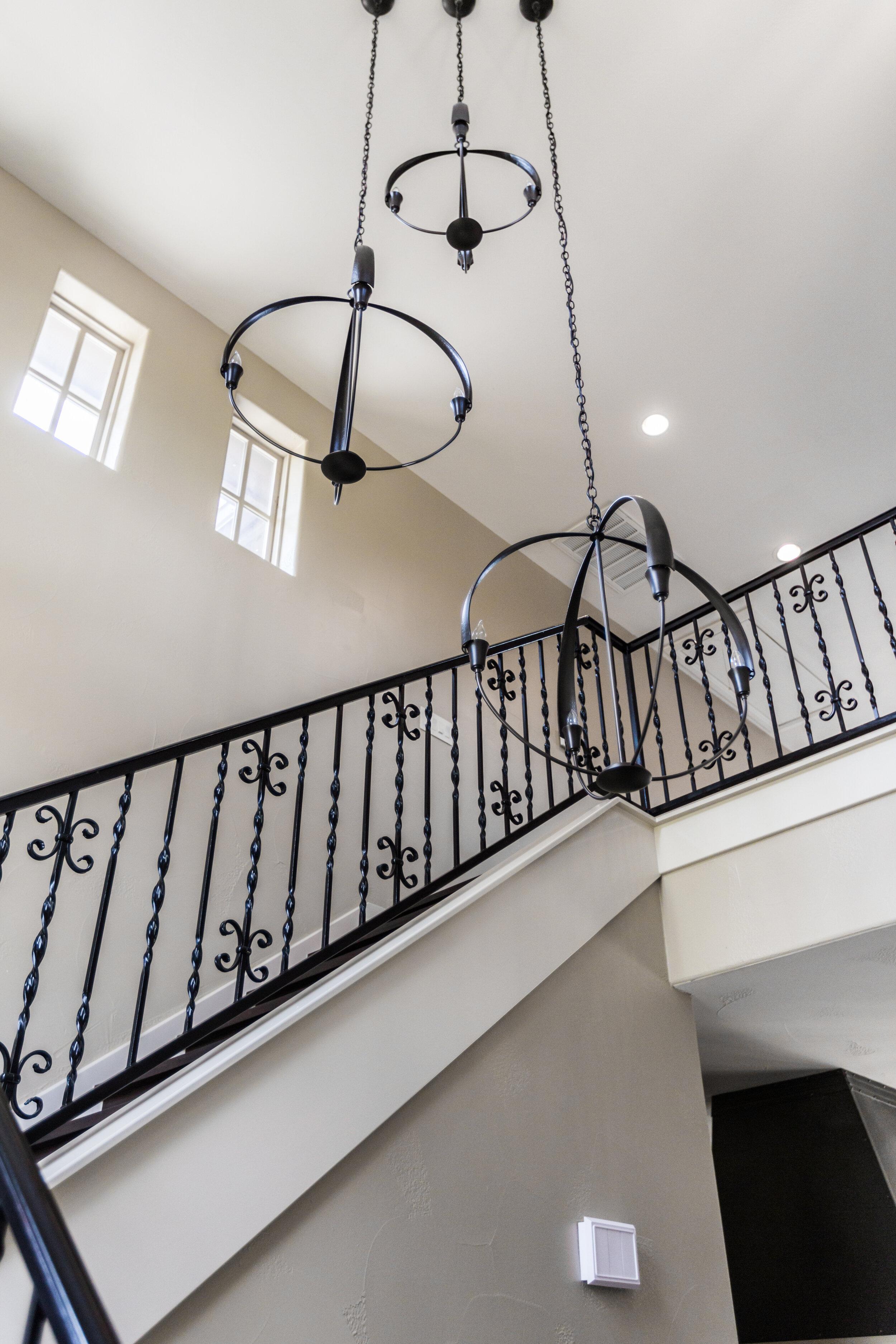 transitional chandelier