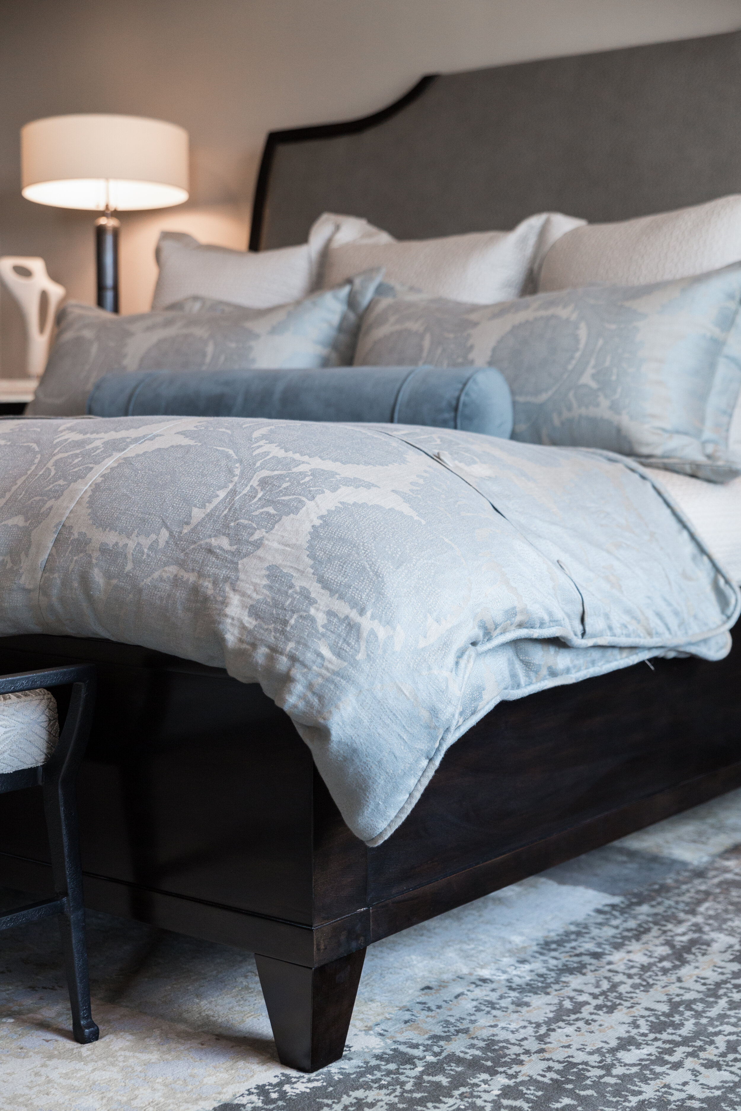 Austin home custom bedding