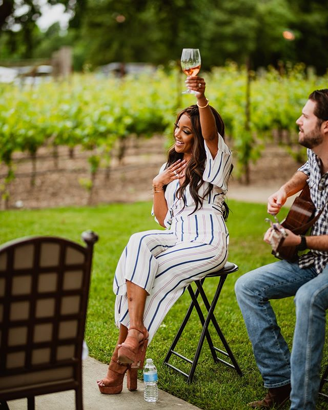 Today is #nationalroseday and we're celebrating with a glass from @madoromvineyards! @mickeyguyton is loving it and we think that you will too!
