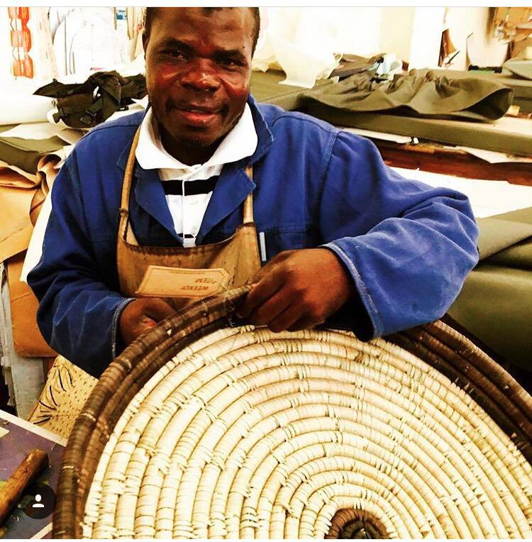 """James    James has worked under the watchful eye of experienced leather workers to master his craft. He is responsible for all the """"nuts and bolts"""" and fine-tuning of the product when binding the leather into basketry."""