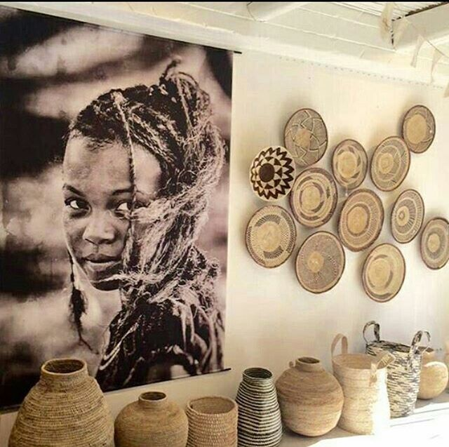 In love with this basket arrangement featuring the buhera basket, porcupine basket on the shelf and the binga basket and sisal basket hanging on the wall.  These baskets can all be purchased through @africa_by_chance. Send us a DM to find out what specials are available this week! 📷 credit from Pinterest Absolute Bliss.  #basket #handmade #natural #raw #styling #interiors #walldecor #homewares #ethical #africa #africanartisans #zimbabwe #buhera #binga
