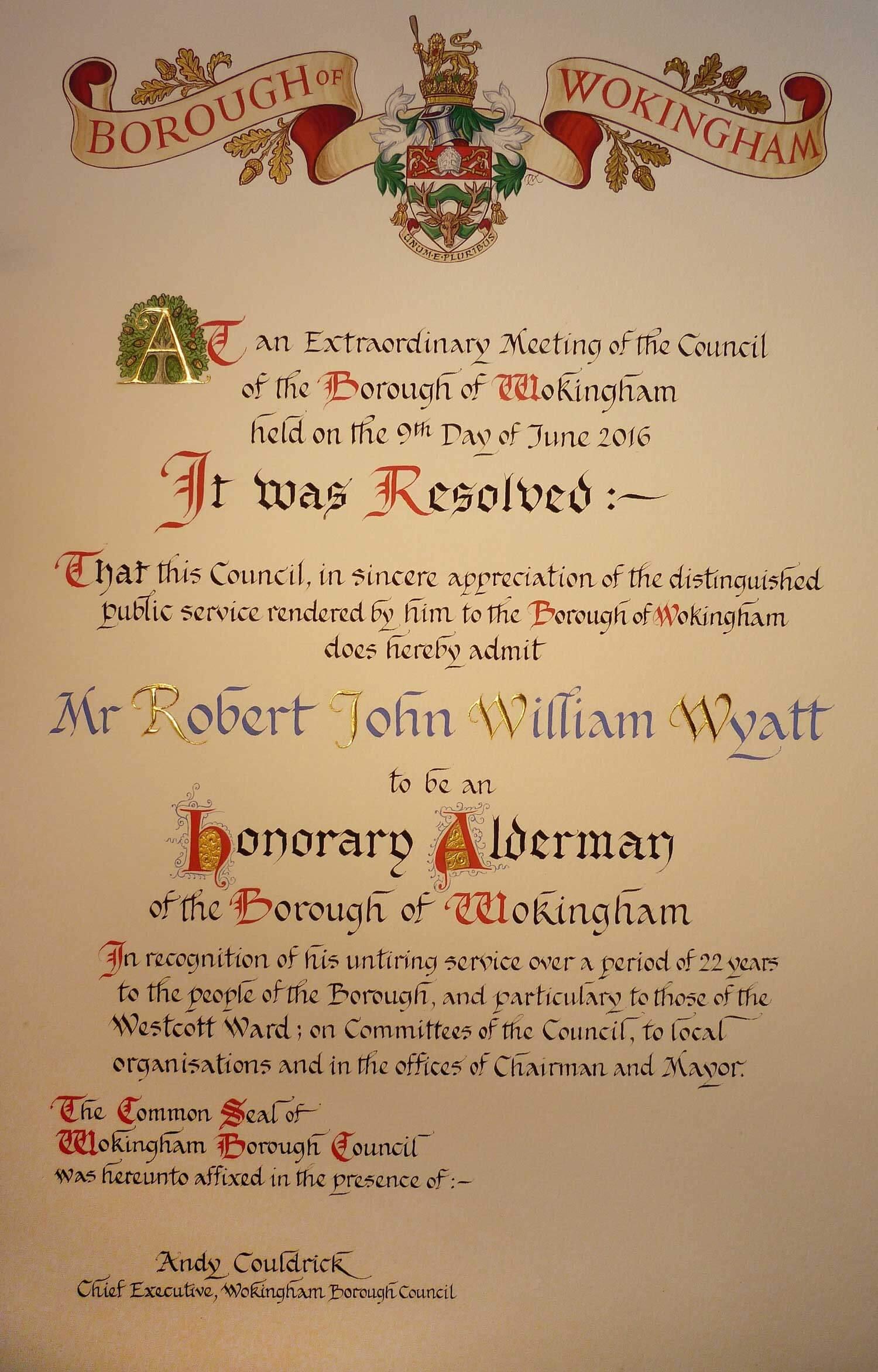 Borough of Wokingham Address