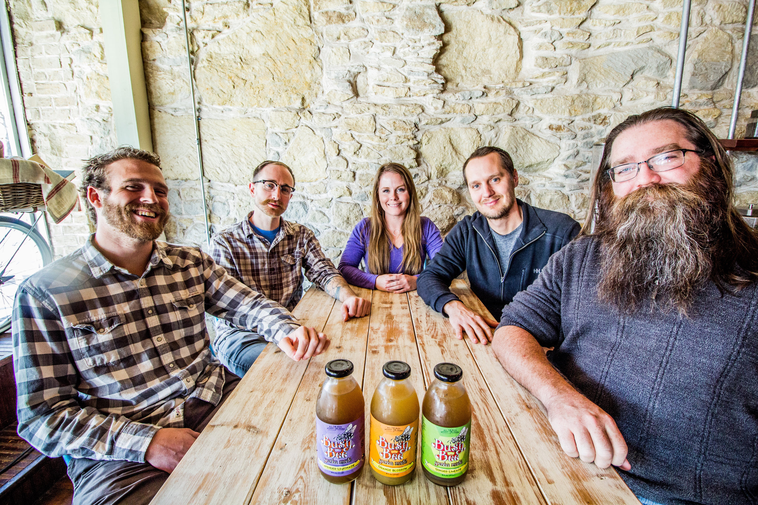 From left to right, Ian Lee (Co Founder), Adam Lilley (Co Founder), Jayme Starrak (Co Founder and CEO), Kyle Mylius (Co Founder), Nathan Todd (Co Founder), Jared Yeager (not pictured, COO)