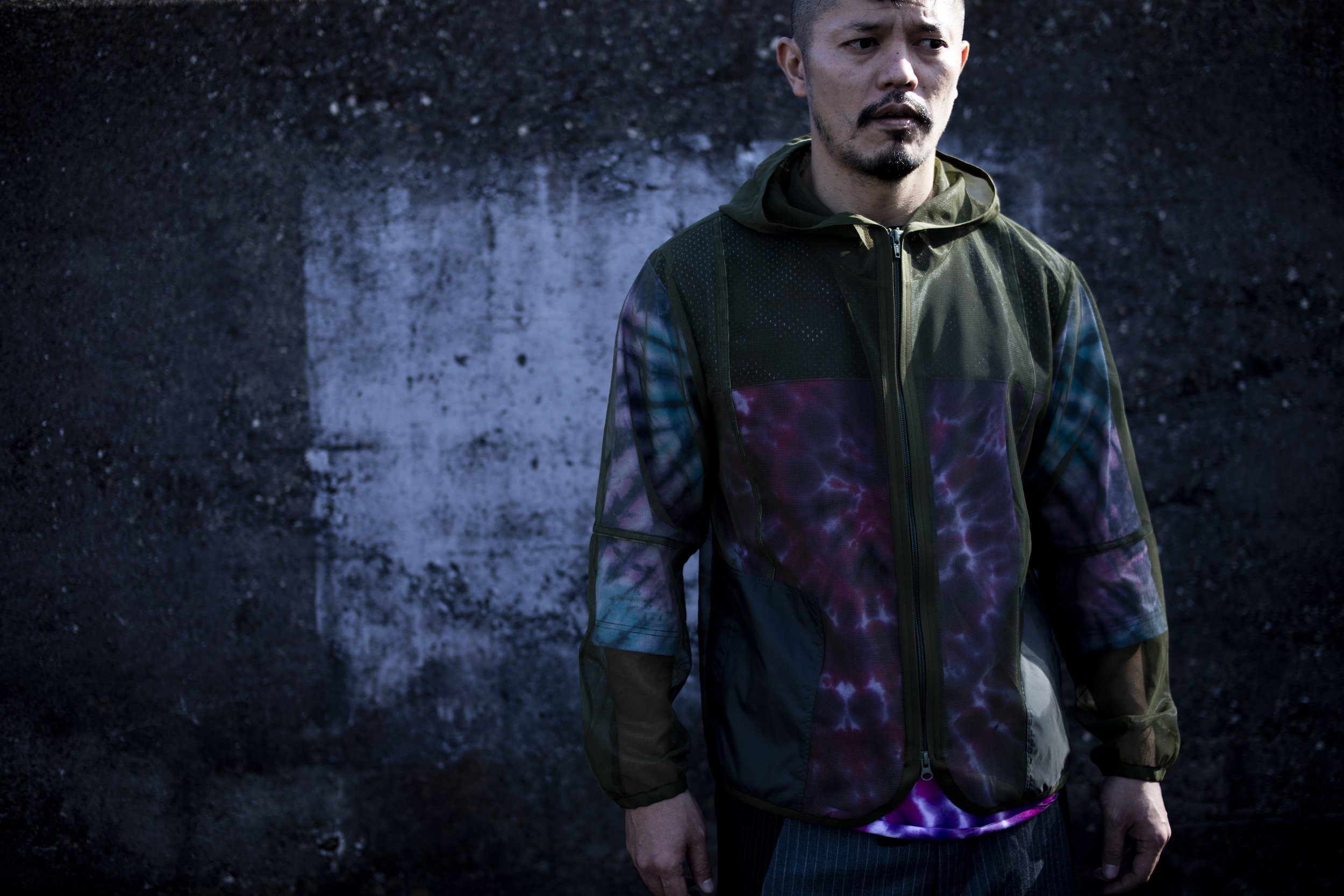 PROTECT MESH PARKA    CRAZY FOOTBALL TIE-DYE