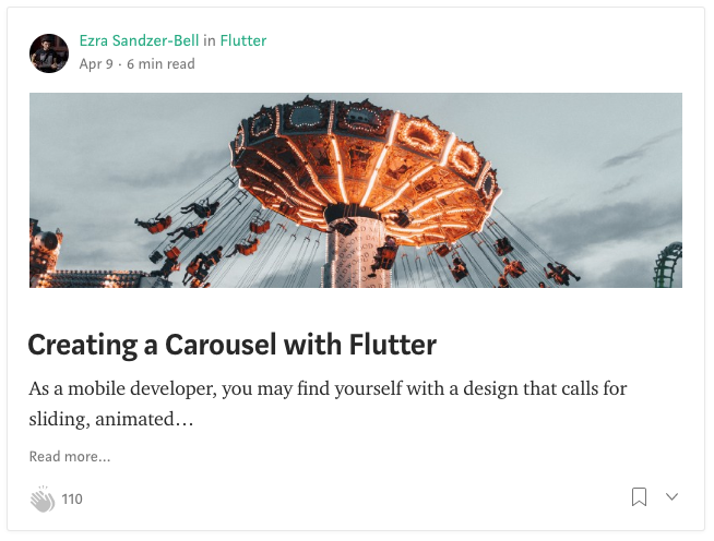 Google Flutter Carousel - I wrote an article for Medium that demonstrates how to create a background image carousel in Flutter. You can pull the repo and run the app if you have Flutter set up.