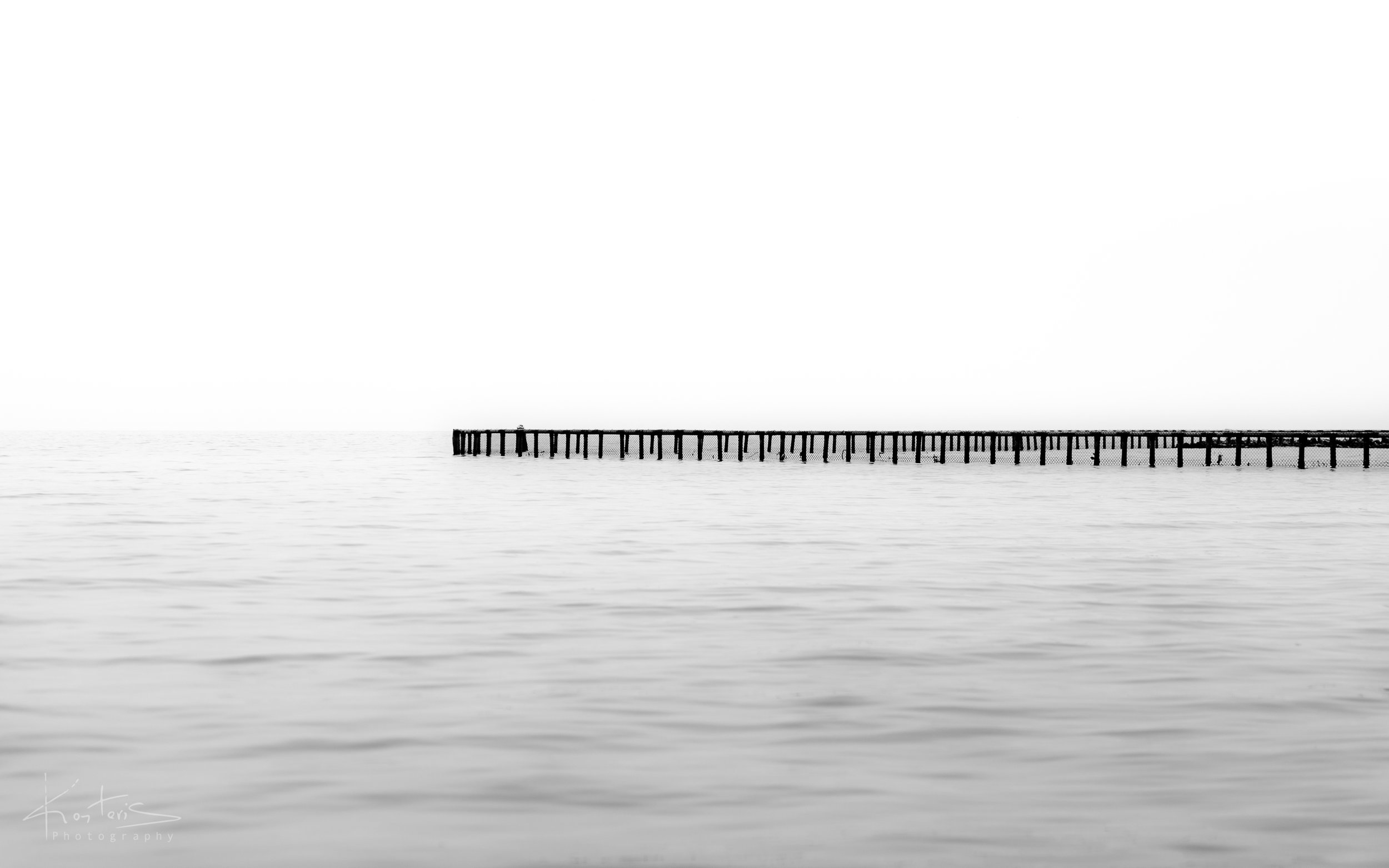 A dock in the mist