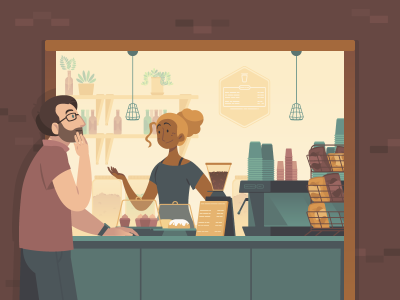Brisbane Cafe Illustration