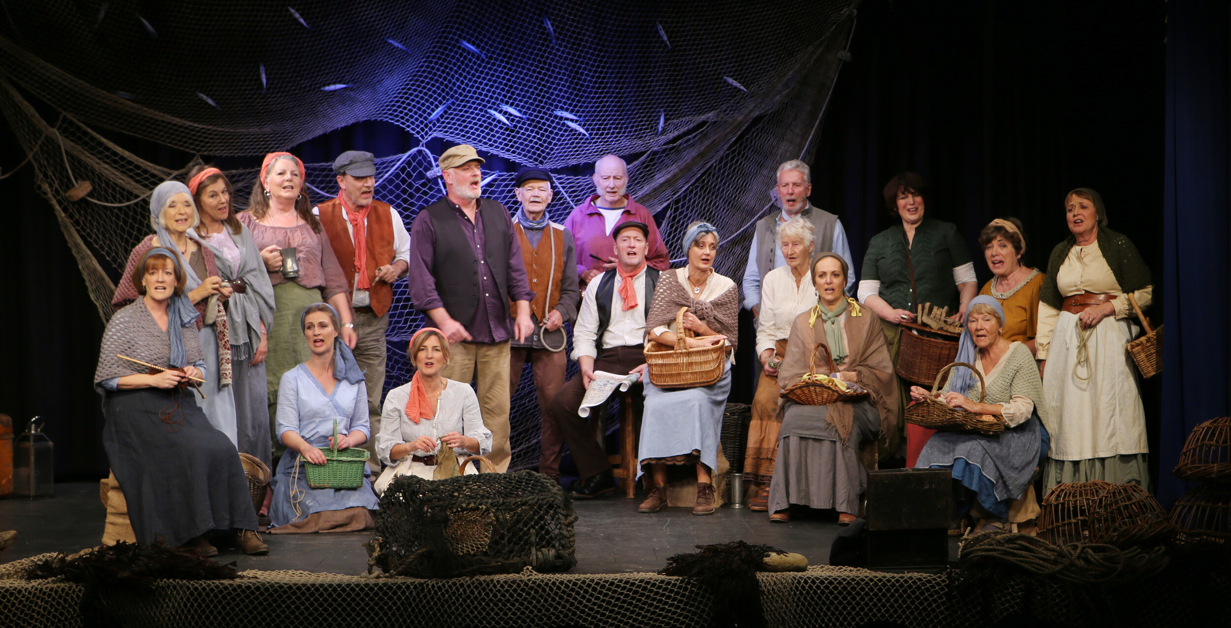 Opening our show 'The Pull of the Tide' at the Marine Theatre Lyme and Royal Manor Theatre Portland 2019