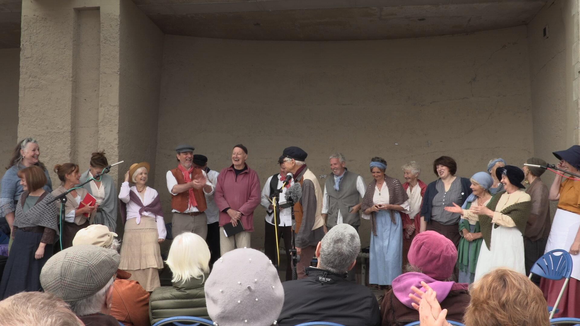 Singing on the Seafront for the Lyme Regis Fossil festival 2019