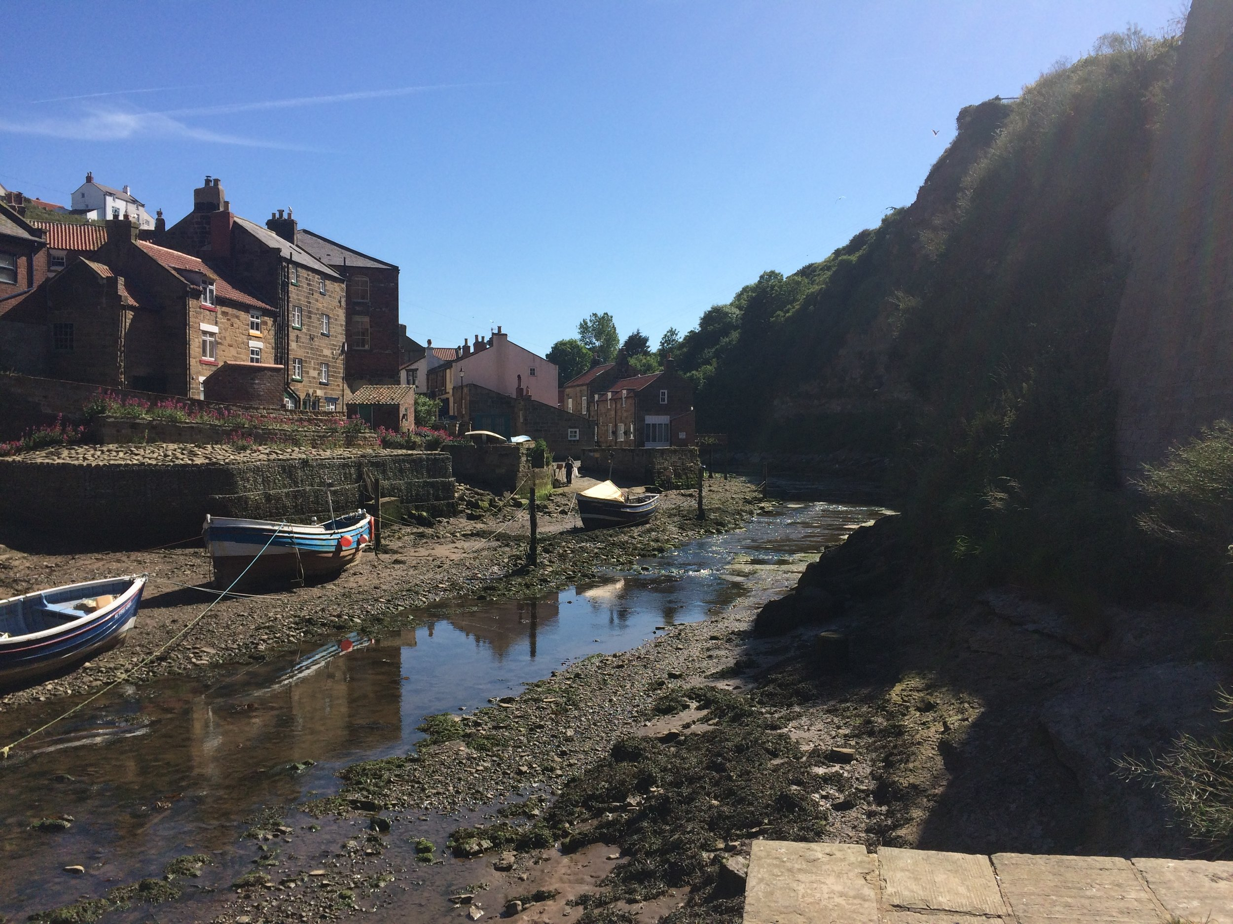 Down by the Beck in Staithes.