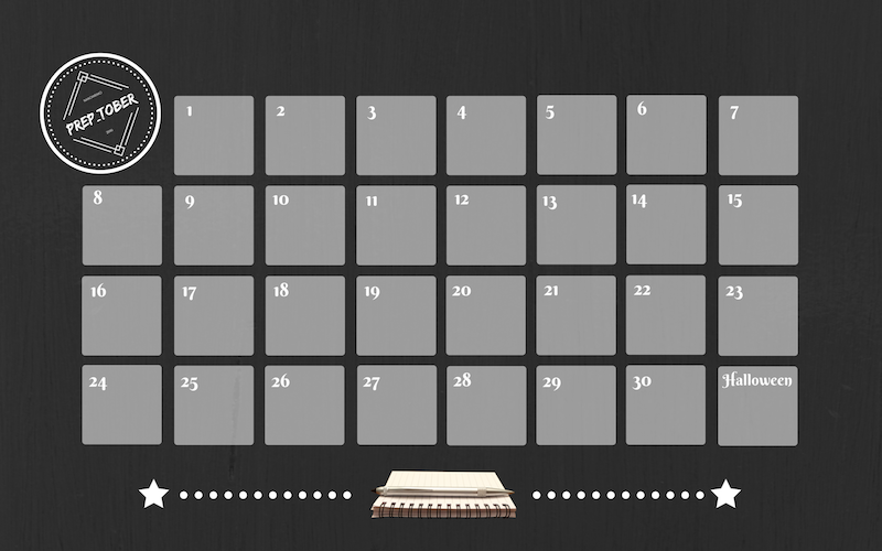 Prep_tober Calendar -