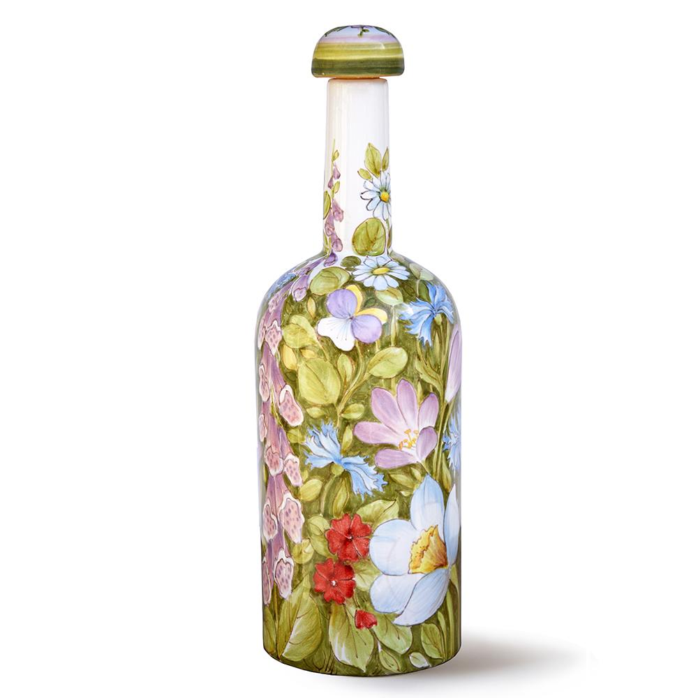 Bottiglia da olio con motivi floreali