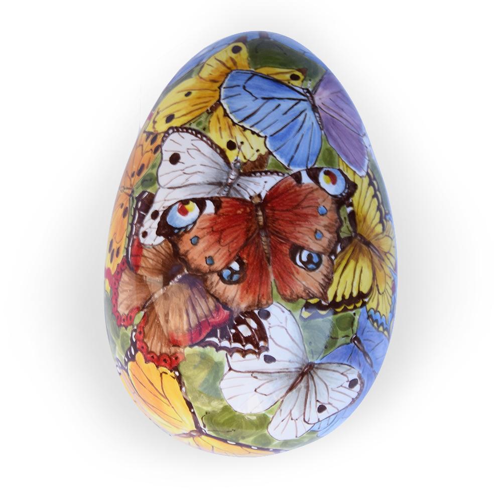 Scatola a forma di uovo – Motivo: Farfalle