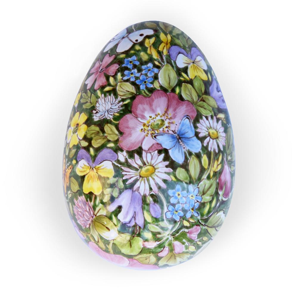 Scatola a forma di uovo – Motivo: Fiori