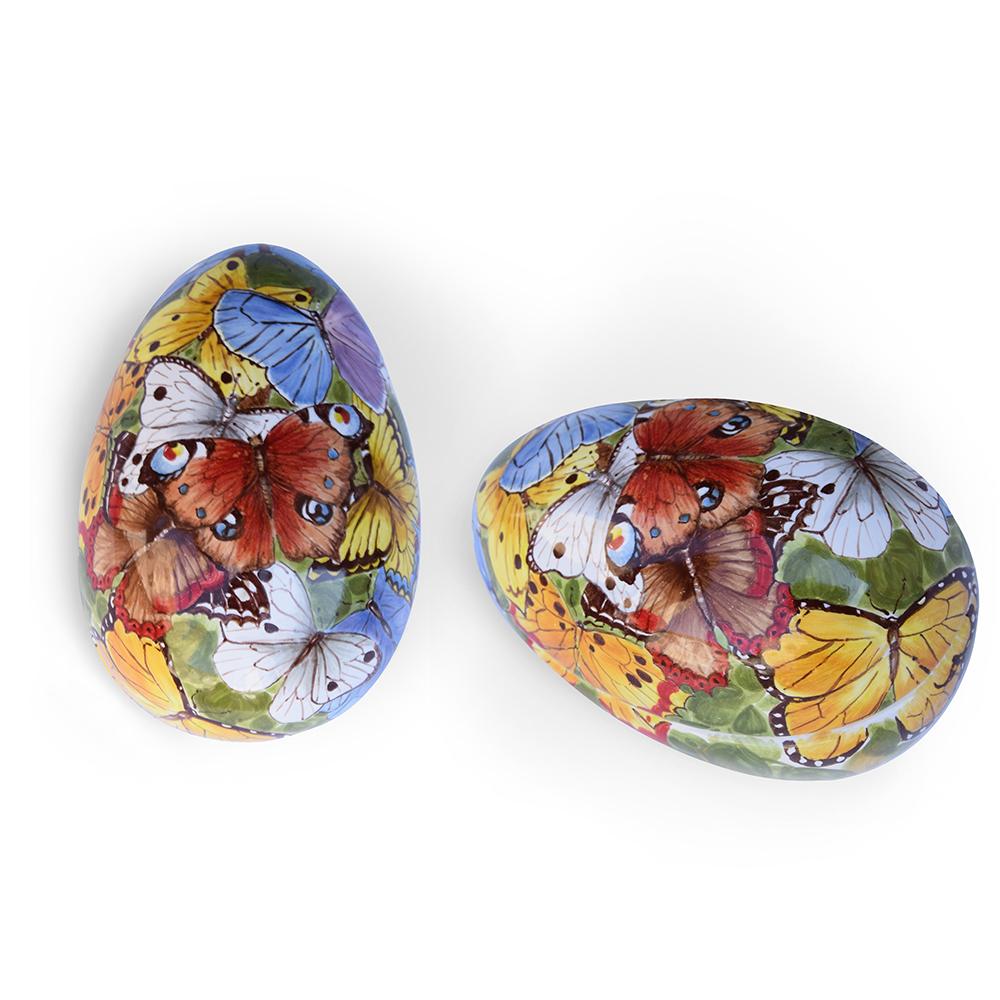 Scatola a forma di uovo – Motivo: Farfalle-2